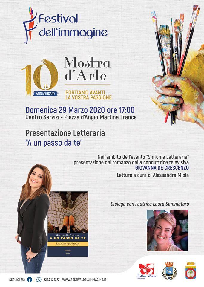 Giovanna De Crescenzo presenta il suo romanzo 'A un passo da te' a Martina Franca